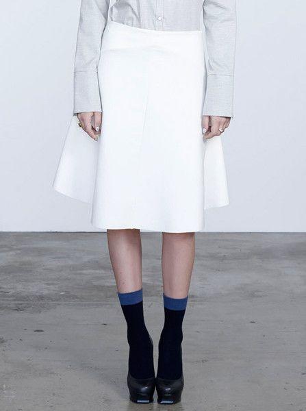 VIKTORIA & WOODS - Brando Midi Skirt - Ivory  $209.90