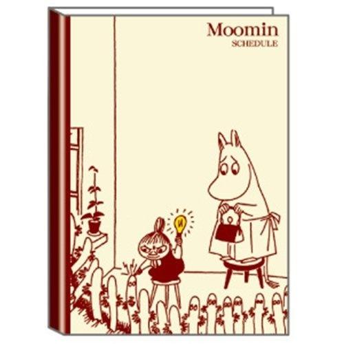 デルフィーノ キャラクター手帳 ムーミン 電球 2012年9月始まり ベージュ B6