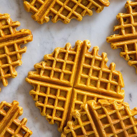 A recipe for easy Pumpkin Spiced Waffles.