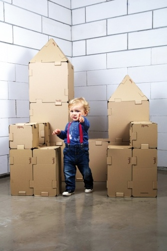 HOCKI are cardboard building blocks used both indoors and outdoors. They have been designed in a way that prevents any disturbance of child creativity by excess stimuli. The blocks are meant to enable the child to fully use its imagination. Despite being based on a simple idea, HOCKI are not an obvious toy. They require intellectual involvement, encourage team play, teach teamwork and promote integration. The clean surface of the blocks stimulates creativity: it can be painted,decorated,cut…
