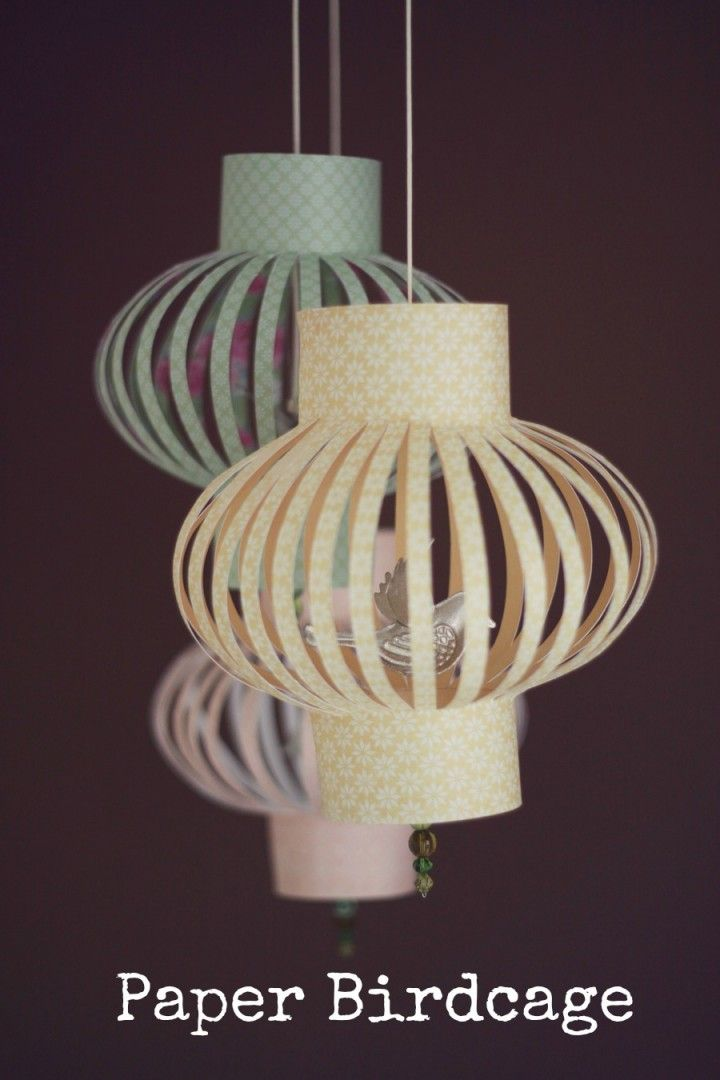DIY Tutorial: Paper Birdcage -- another cool DIY decorations idea! Would these work in the wind?