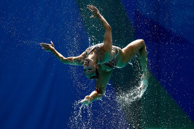 The team of Russia compete during the Synchronised Swimming Teams Technical Routine at the Maria Lenk Aquatics Centre on Day 13 of the 2016 Rio Olympic Games on on August 18, 2016 in Rio de Janeiro, Brazil.