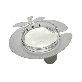Honingbakje glas en Aluminium Zilverkleur R9073