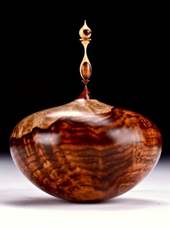 Cocobolo bowl finial