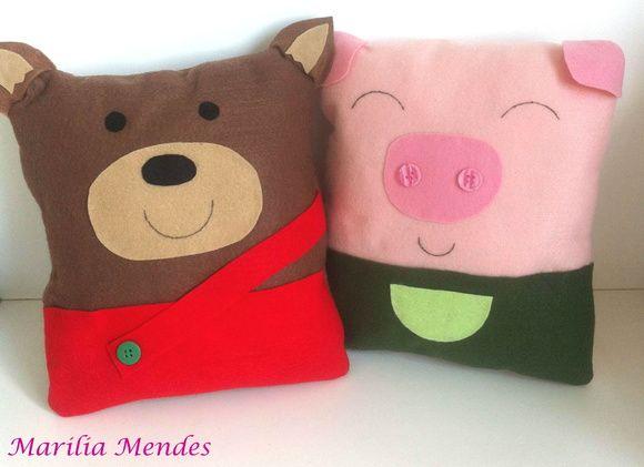 Almofadas Os três porquinhos