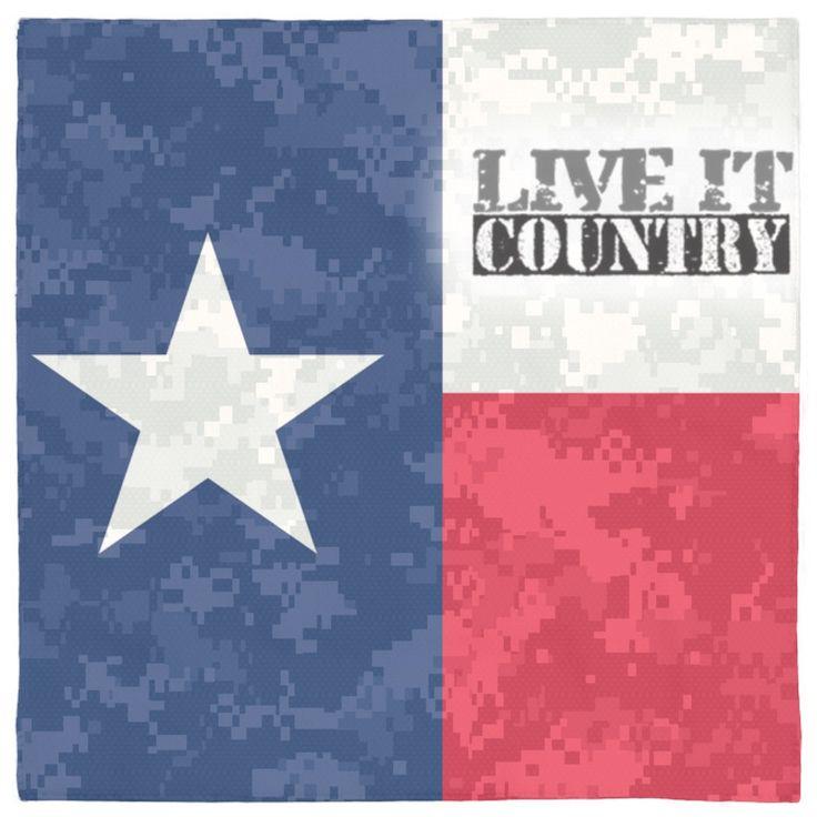 Texas Camo Pet Bandana