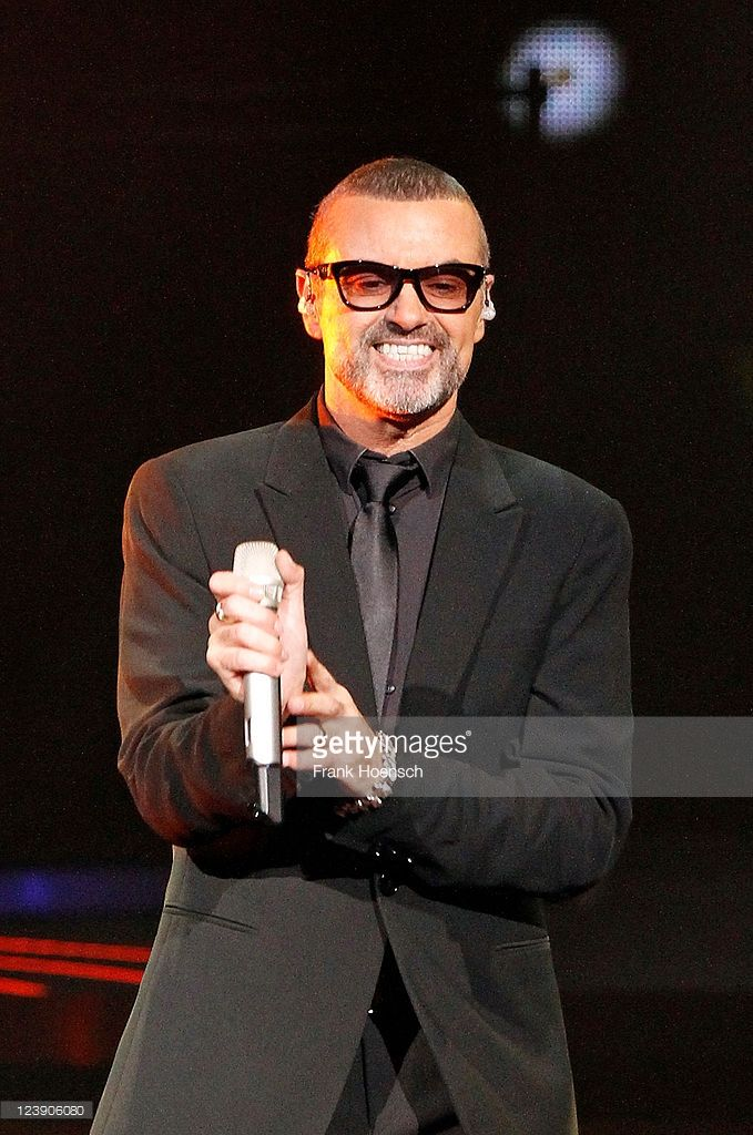 British singer George Michael performs live during a concert at the O2 World on September 5, 2011 in Berlin, Germany. The concert is part of the 2011 tour Symphonica.