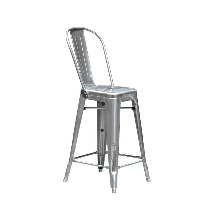 Kitchen Bench Stool Cafe Galvanised Metal Bar Stool From