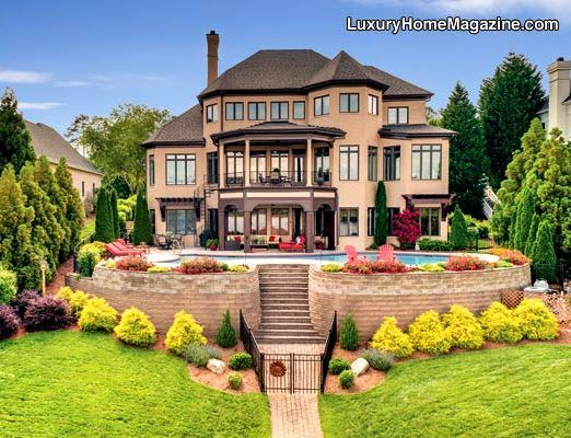 Luxury home magazine charlotte luxury home backyard for Pool design sims 4
