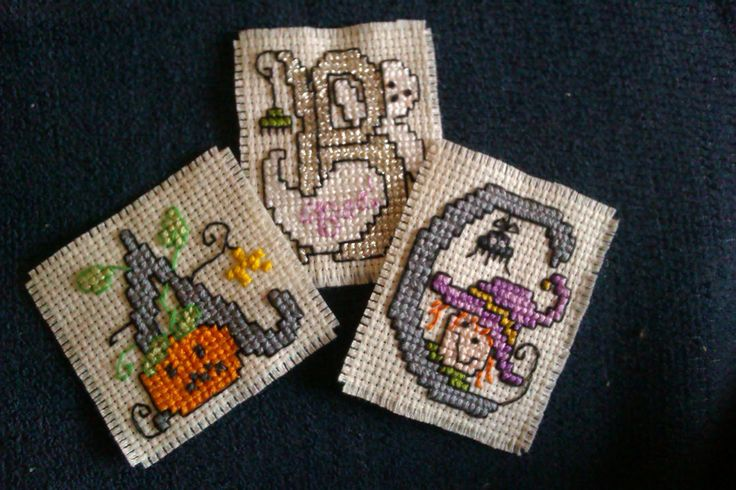 my spooky xstitched letters