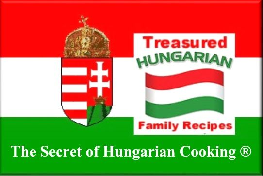 Treasured Hungarian Family Recipes® Company logo, official trademark of Helen M. Radics (me), created by my daughter, Helen Radics - Visit website http://besthungarianrecipes.sharepoint.com