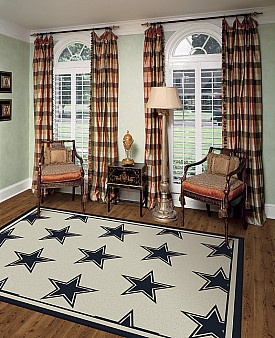 Black And White Rugs Cowboys RUG