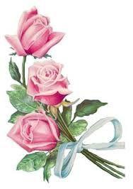 Resultado de imagen para flores vintage rosa png