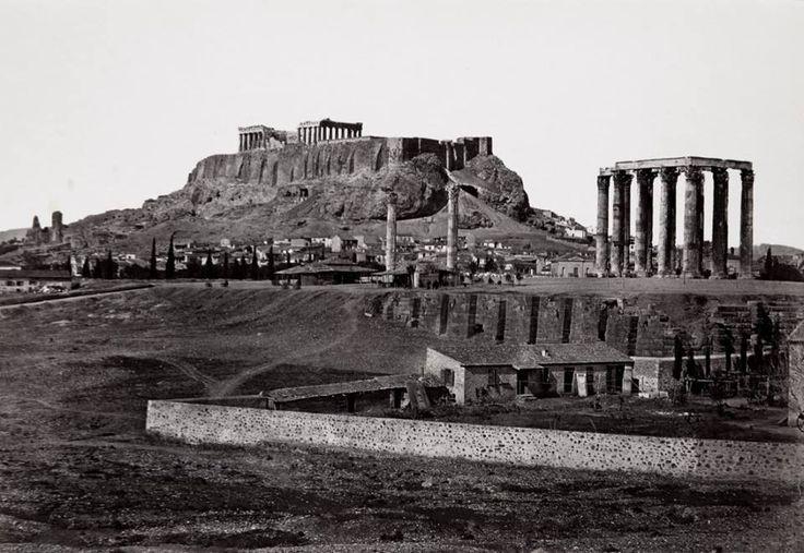 Αθήνα, άποψη του ναού του Ολυμπίου Διός, 1896, φωτογραφία της Wilhelmina von Hallwyl, κατά την διάρκεια ταξιδιού της στην Ελλάδα με τον σύζυγό της Walther von Hallwyl.