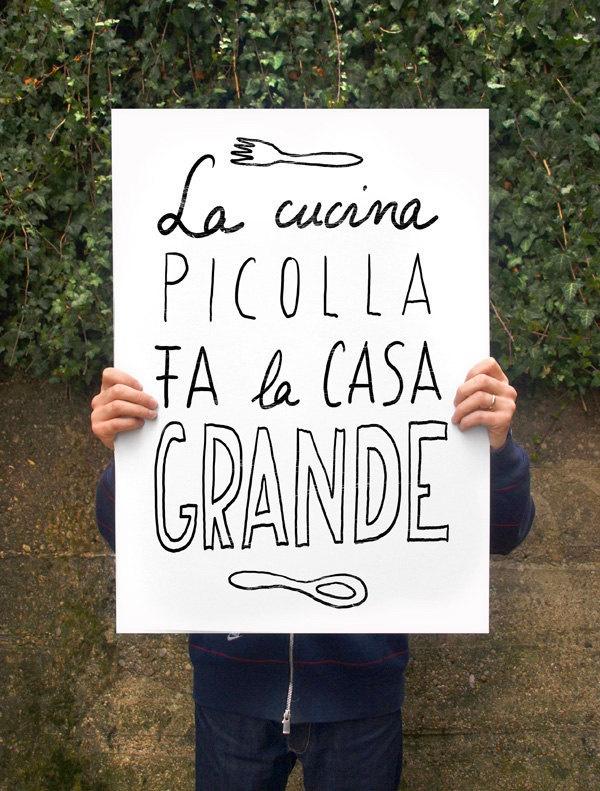 "Cucina picolla Anek poster print 20""x27"" - archival fine art giclée print. $85.00, via Etsy."
