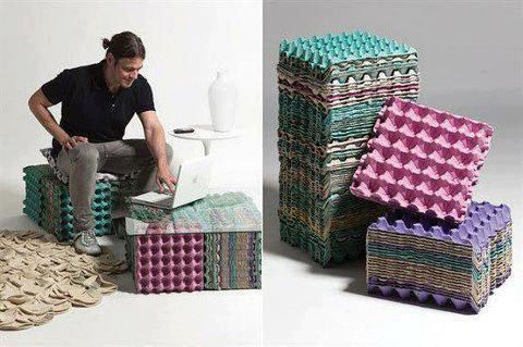 Built from recycled furniture made from recycled for Items made from waste material