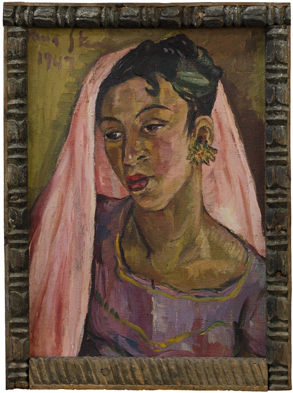 A stunning image from one of Irma Stern's trips to Zanzibar which inspired some of her best work, titled Pink Sari, signed and dated 1947, and with its original Zanzibar frame, sold at Bonhams for £959,650. Never before seen on the open market, the painting was acquired directly from the artist circa 1961 and then passed by direct descent to the current owner. It was the top lot in Bonhams sale of South African Art which has consistently broken records for South African art.