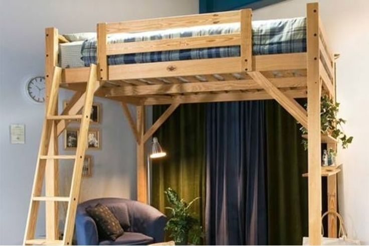 1000 ideas about queen loft beds on pinterest lofted beds bed plans and loft. Black Bedroom Furniture Sets. Home Design Ideas