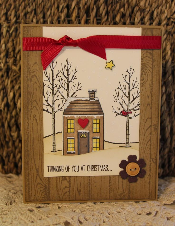 Giddy Stamper: Rustic Holiday Home ~ MMC133, The Challenge 18, FMS161