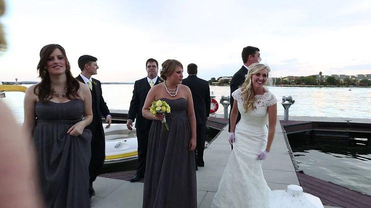 Sarah + Patrick: Real Wedding Highlight Reel #horseshoebay #TX #destination #wedding #HSB #YachtClub #Resort #yellowandgray