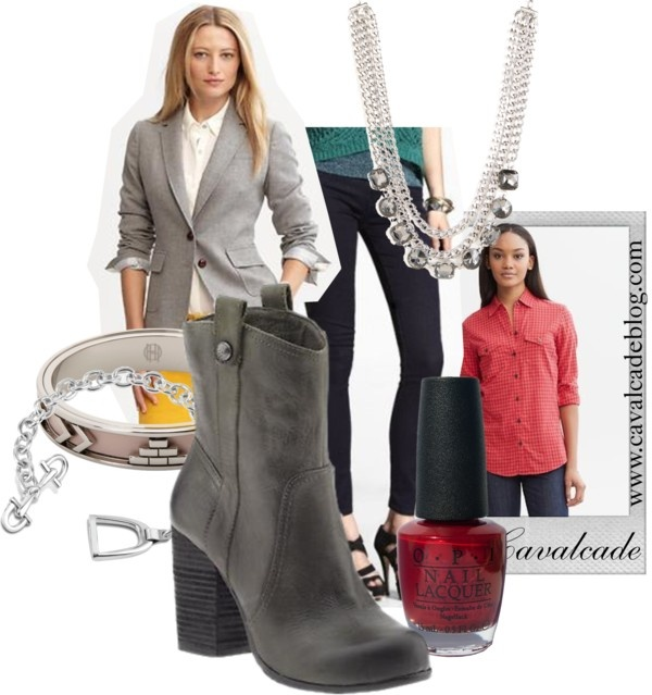 """Grey Equestrian Chic"" by cavalcade on Polyvore"