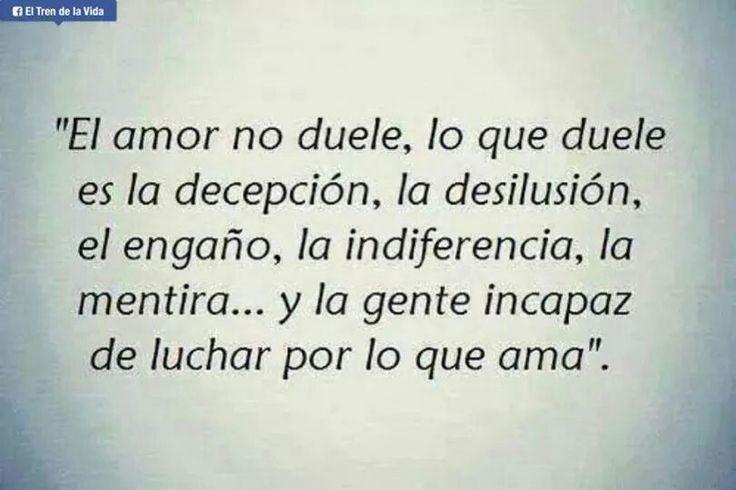 El amor no duele...