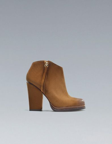 ZIPPED COWBOY ANKLE BOOT - Ankle boots - Shoes - Woman - ZARA