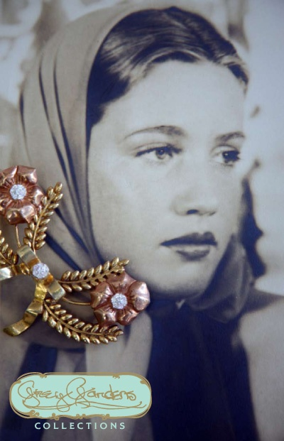 'Little Edie' aka Edith Bouvier Beale - 1930's - Iconic Brooch by Eva Beale - Grey Gardens Collections - @~ Watsonette