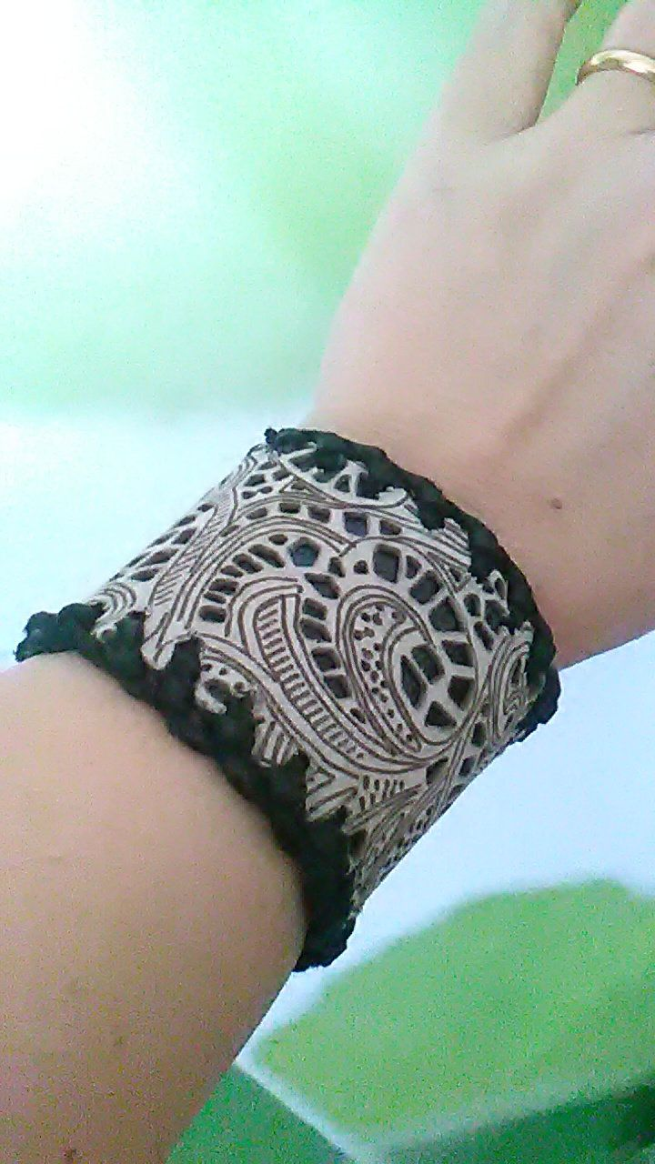 Leather bracelet, bracelet with lasered leather with lace effect, womens bracelet, gift idea, womans bracelet, handmade.Made in Italy. by EKleathercreations on Etsy