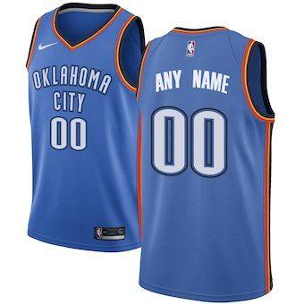 44a4ced99669 Oklahoma City Thunder Nike Swingman Custom Jersey Blue - Icon Edition