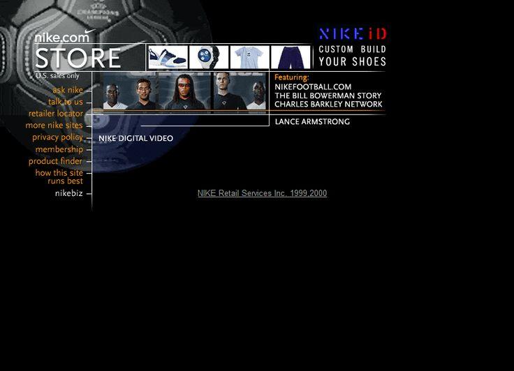 Nike.com website in 2000
