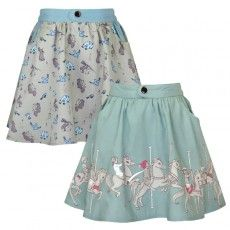 boo boo belle.com beautiful children's clothes. Reversible Carousel Skirt