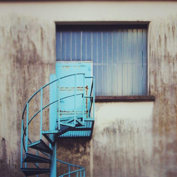 Stairs for a dreamt paradise.  Zerowatt | Nese, ALzano Lombardo | Bergamo | Italy   Esplorazioni urbane. Photo: Laura Belotti