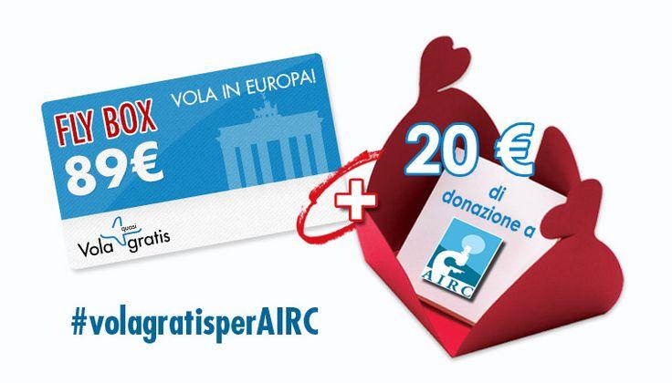 #volagratisperAIRC  #madai  sostieni la ricerca! http://www.volagratis.com/content/it/campagna-volagratis-per-airc.html