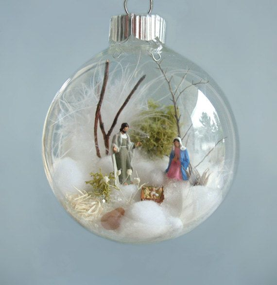 Nativity At Night Glass Ball Religious Christmas Ornament: 12 Best Christmas Ball: Nativity Images On Pinterest