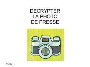 Calaméo - Décrypter la photo de presse