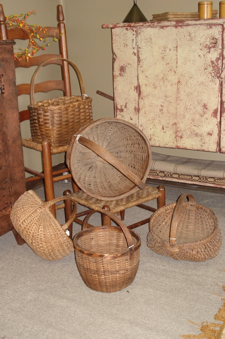 Prim Gathering...of olde baskets.