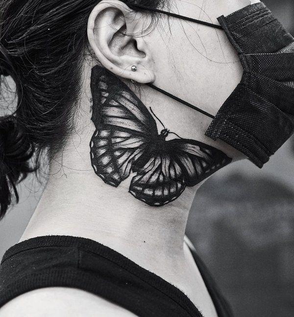 60 Impressive Neck Tattoo Ideas That You Will Love Neck Tattoo Side Neck Tattoo Neck Tattoos Women