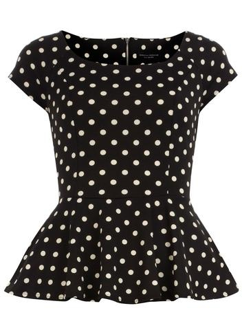 Polka dot Peplum Top. I love everything peplum its such a beautiful lady like style every gal should wear.