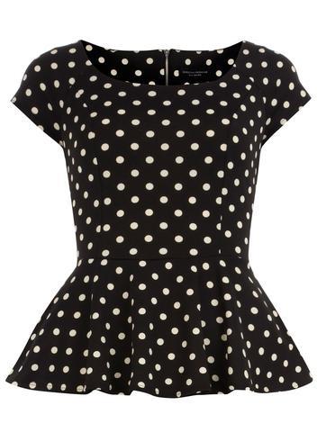 Polka dot Peplum Top. I love everything peplum its such a beautiful lady like style every gal should wear.