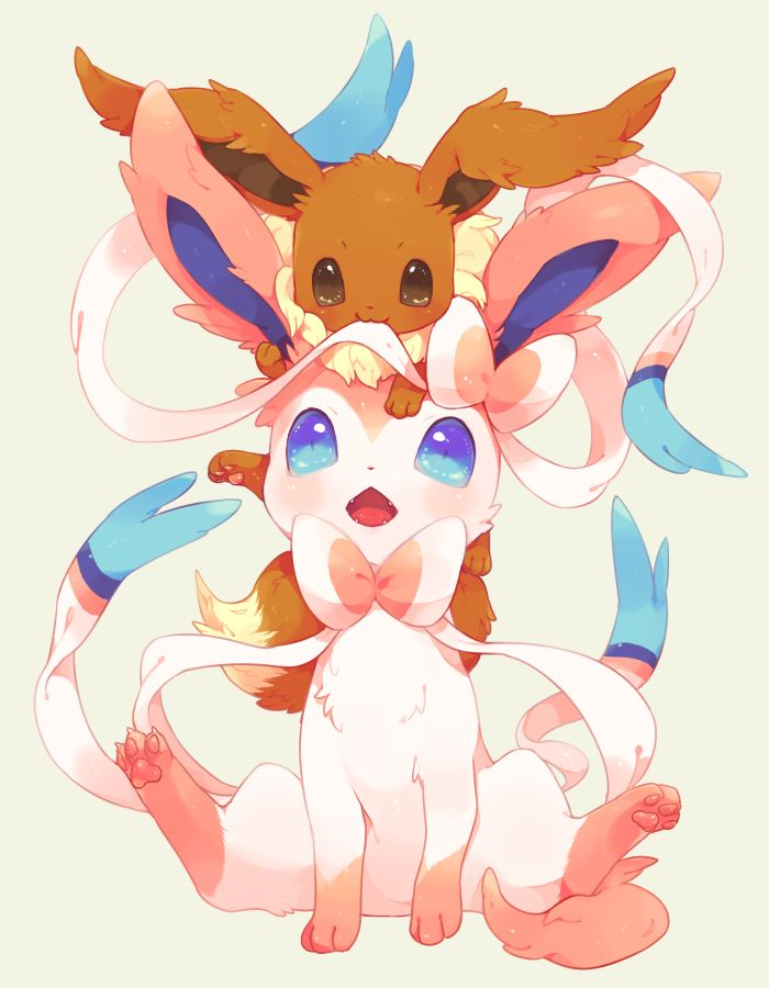 Sylveon & Eevee - Pokemon   Pokemon   Pinterest   Pokemon ...  Sylveon & Eevee...