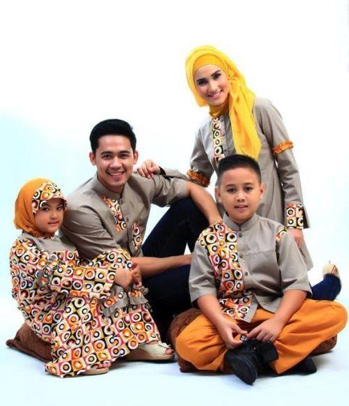 busana muslim set keluarga untuk lebaran