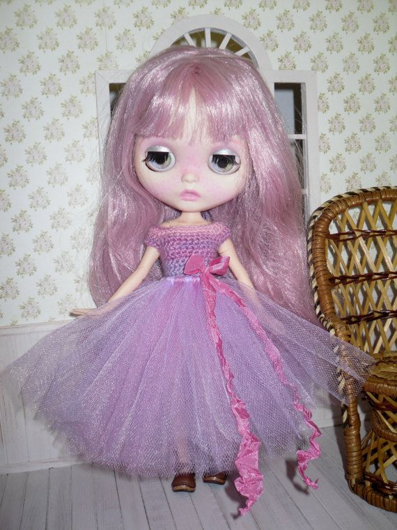 Tutu dress for Blythe  RESERVED by LittleGiftCove on Etsy
