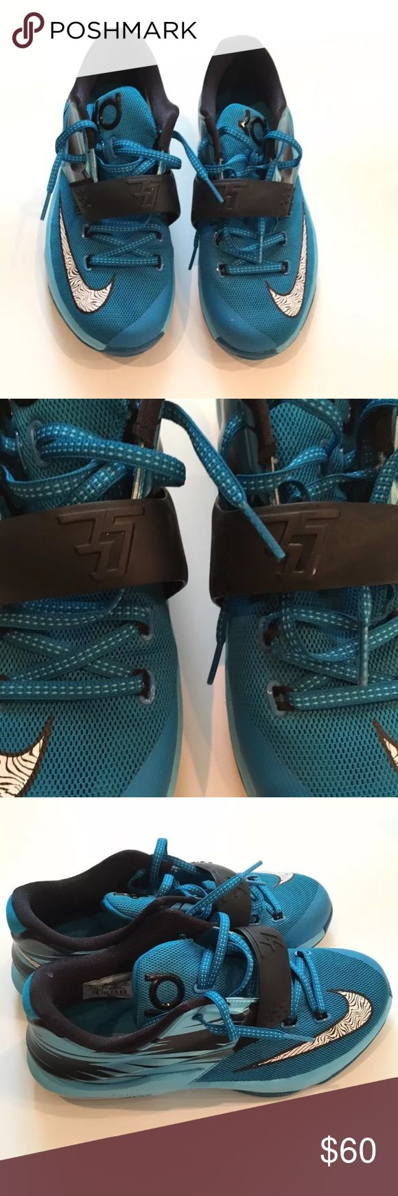 Nike Air Teal Kevin Durant's Men's Nike Air Zoom KD 7 ClearWater Kevin Durant's Teal Blue - SIZE 5.5                                  - Good Condition/ Slight Signs of WEAR ( refer to pictures ) Kevin Durant's Shoes Sneakers