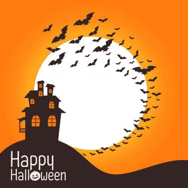 Feliz Tarjeta De Invitación De Halloween Vector Premium In