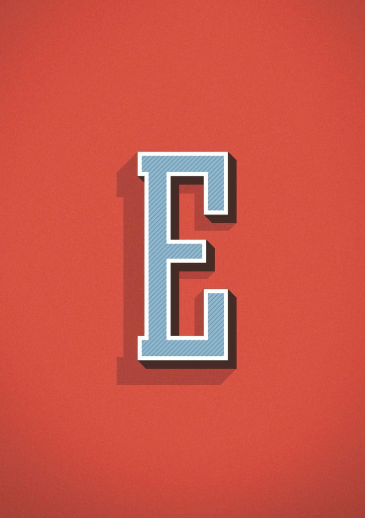 The letter E #type #letter