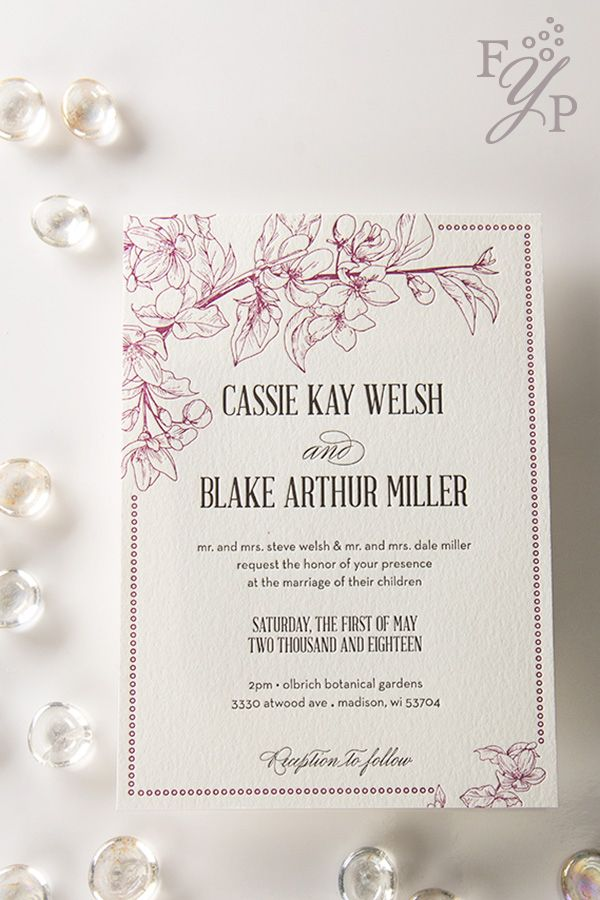 Elegant letterpress wedding invitations that impress with