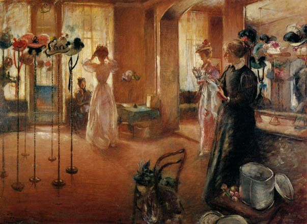 The Hat Shop ~ Henry Tonks ~ (English: 1862-1937)