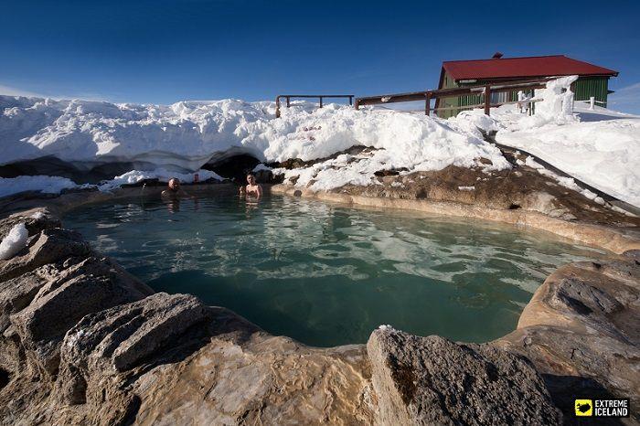 Natural bathing at Hveravellir, Iceland. #Geothermal #Iceland #ExtremeIceland