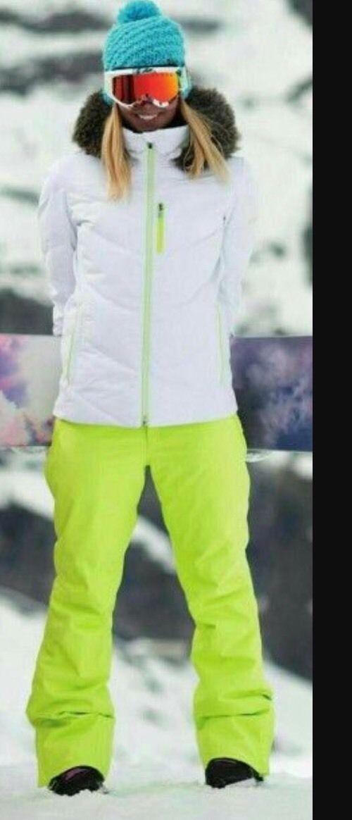 Womens Oakley Ski Snowboarding White Jacket Coat Hoodie Zip Puffer L/S Nimbus